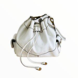 Cole Haan Village Drawstring White Denney Bag